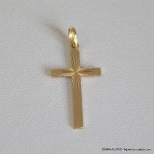Pendentif Religieux Croix Or  750-18k 1.1grs