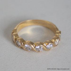 Bague Demi Alliance Or 750  Diamants - 4.5grs-  54