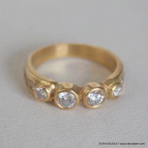 Bague Or  750 Fantaisie Diamants - 5.22grs-  54