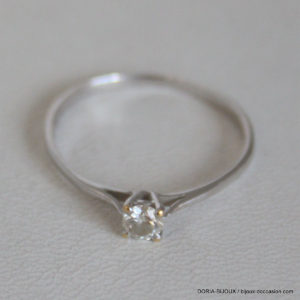 Bague Or 750 Solitaire Diamant 0.15cts  1.3grs -59