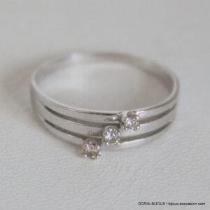 Bague Or  750 Fantaisie Diamants - 2.7grs-  60