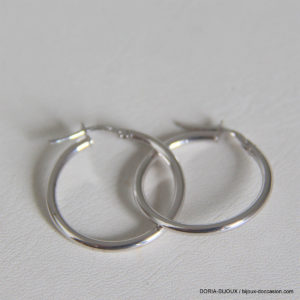 Creoles Or Blanc 18k 750 - 1.35grs