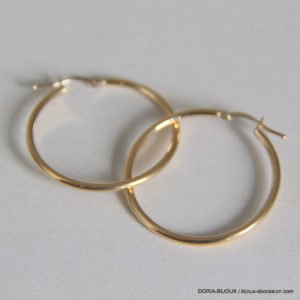 Creoles Lisses Or Jaune 18k 750 - 1.8grs