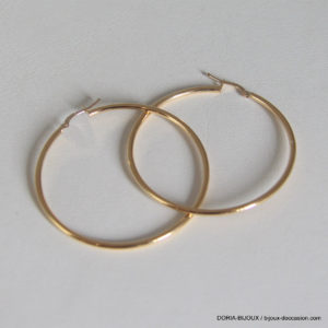 Creoles Lisses Or Jaune 18k 750- 2.75grs
