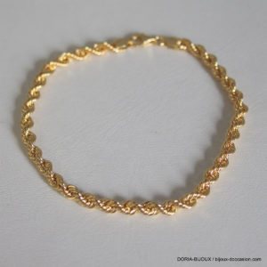 Bracelet Or Maille Corde Or 18k 750 - 19cm - 3.80grs