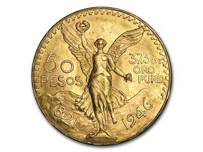 Pièce en Or, 50 pesos mexicains