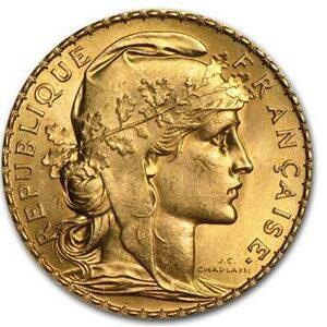 Pièce 20 Francs Marianne Coq