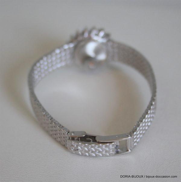 Montre Dame Omega Or Blanc Et Diamants 18k 750/000