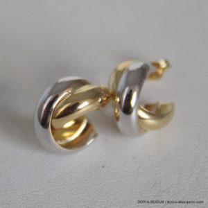 Boucles D'oreilles Or Bicolore 1.85grs