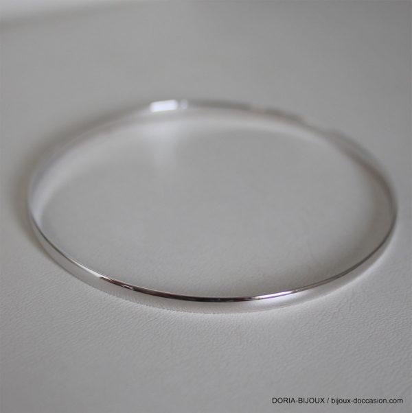 Bracelet Demi Jonc Or Gris 18k 750 -63mm- 6.50grs