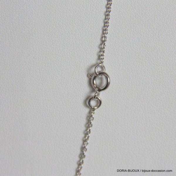 Chaîne Maille Forçat Rond Or Blanc 18k 750- 2.45grs