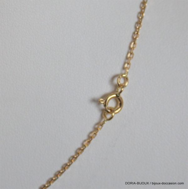 Chaîne Forçat Diamantée Or Jaune 18k, 750 - 3.50grs