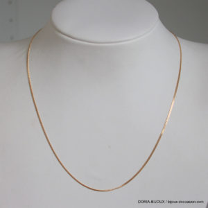 Chaine Or 18k, 750 Maille Gourmette 40cm- 1.95grs