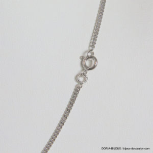 Chaine Maille Gourmette Or Gris 18k - 750-  6.65grs