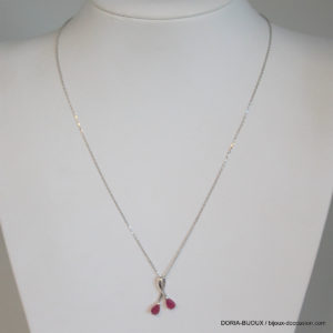 Collier Or 18k, 750/0000 Rubis 42cm - 2.45 Grs