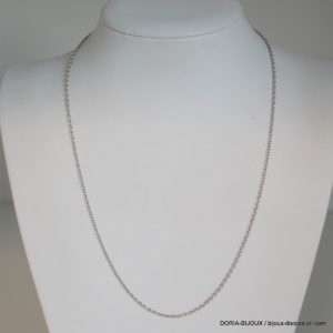 Chaine Or Blanc 18k 750 Maille Forçat  - 4.85grs