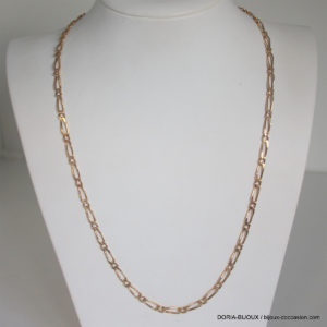 Chaine Or 18k, 750 Maille Alternée - 52cm - 17.4grs