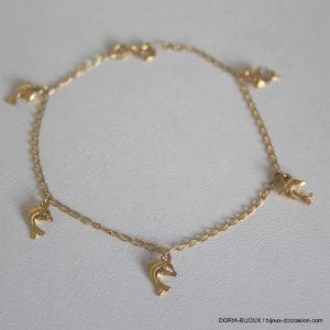 Bracelet Or Jaune 18k 750 Dauphin 18cm - 2.6grs