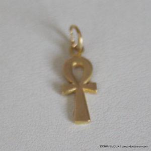 Pendentif Or Jaune 18k 750 Croix De Vie -1gr