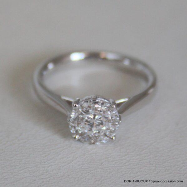 Bague O Gris 750 Diamants 0.65cts Effet 1.85cts
