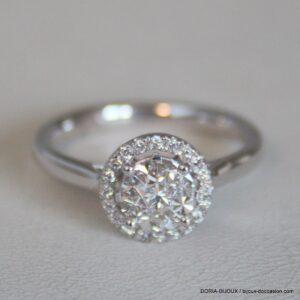 Bague Or Gris 18k Diamants 0.56 Cts Effet 1.20cts -
