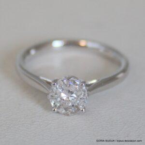 Bague Or Gris 750 Diamants 0.35cts Effet 0.80cts