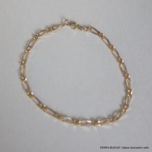 Bracelet Maille Alternée D'occasion En Or 18k 750