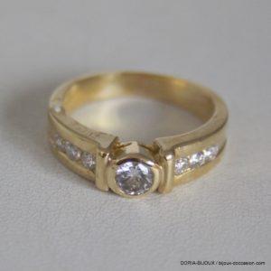 Bague Or 18k 750 Fantaisie Diamants - 6.4grs-  54