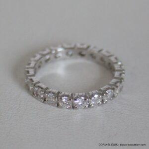 Bague Or 18k 750 Tour Complet Diamants - 2.6grs-  51