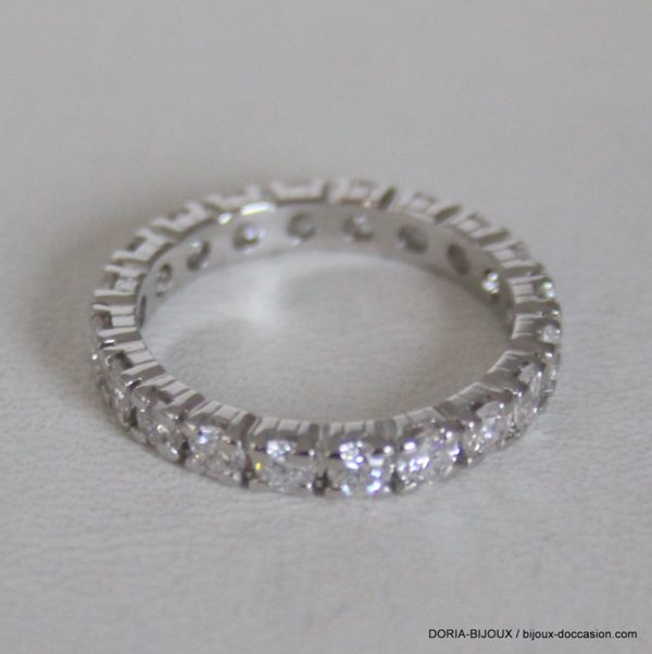 Bague Or 18k 750 Tour Complet Diamants - 2.6grs-  51