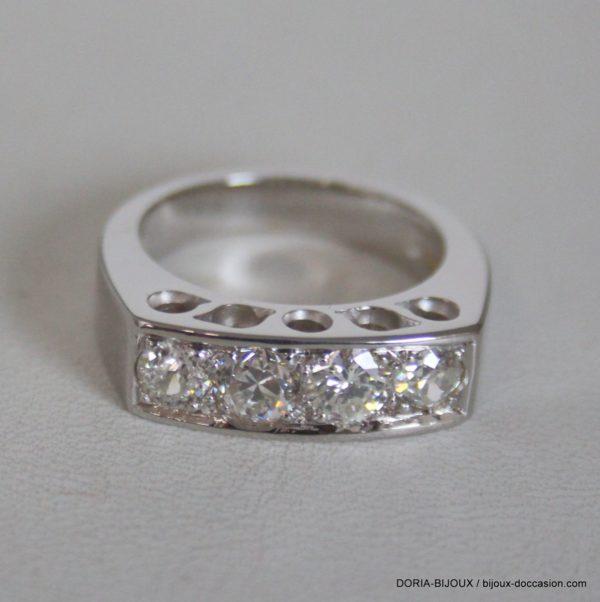 Bague Or Jaune 18k 750 Diamants - 9.2grs-  51