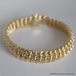 Bracelet Or 18k 750 Maille Americaine 20.65grs -19cm