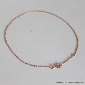 Chaine De Cheville Or Rose 18k 750 - 1.70grs
