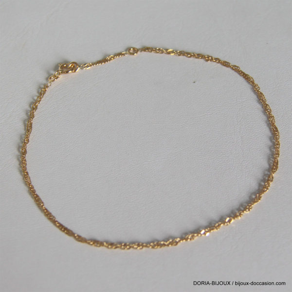 Chaine De Cheville Or Jaune 18k 750/000 - 1.75grs