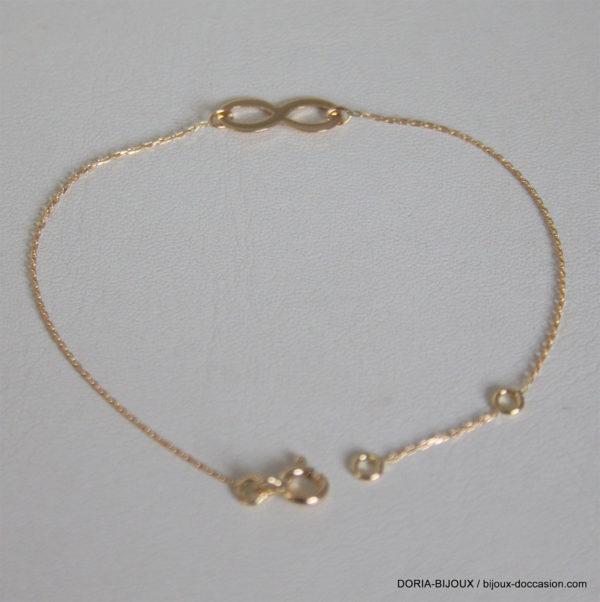 Bracelet Infini Tout Or 750 Jaune - 1.15grs