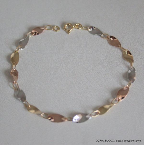 Bracelet Fantaisie 3 Ors 18k 750/0000- 18cm - 3grs