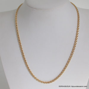 Collier Or 18k, 750/000 Maille Fantaisie 11.2grs