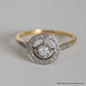 Bague Vintage Or 18k 750 Diamants - 2grs-  50