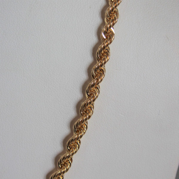 Chaine maille corde or 18k 10.70grs