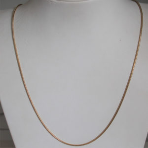 Chaine maille serpentine or 18k 750 - 6.55grs - 60cm