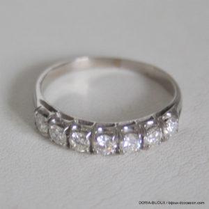 Bague Demi Alliance Or 750 Diamants- 3.Grs  -61