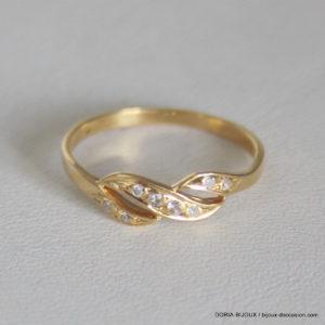 Bague Alliance Or 750 Diamants- 1.3grs  -52
