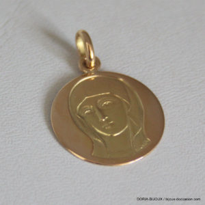 Medaille Or Vierge Or Jaune 18k, 750 - 2.7grs