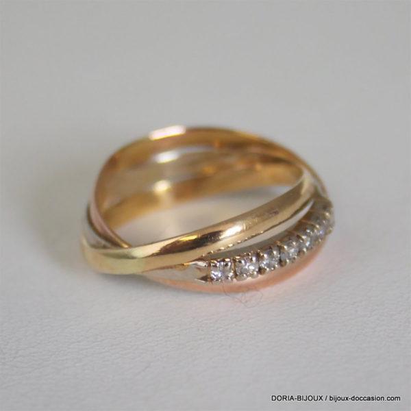 Bague 3 Ors 18k 750/000 -7 Diamants 4.1grs -54-