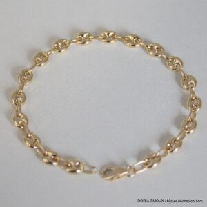 Bracelet Or Grain De Café - 21cm - 9.95grs