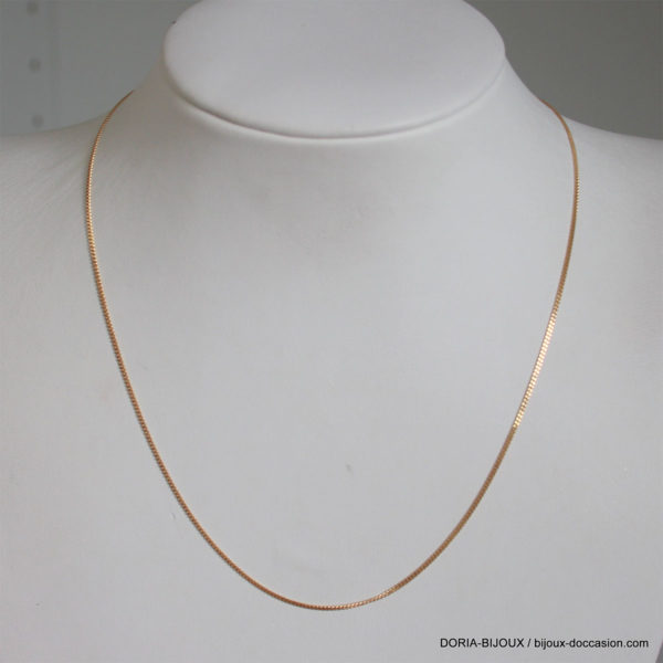 Chaine Or 18k, 750 Maille Gourmette 40cm- 1.90grs