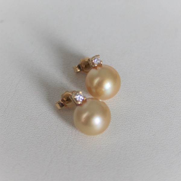 Collier Or 750 Perle Gold Eau Douce & Diamant