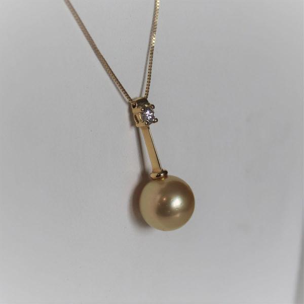 Boucles d'Oreilles Or 750  Perles Gold & Diamants