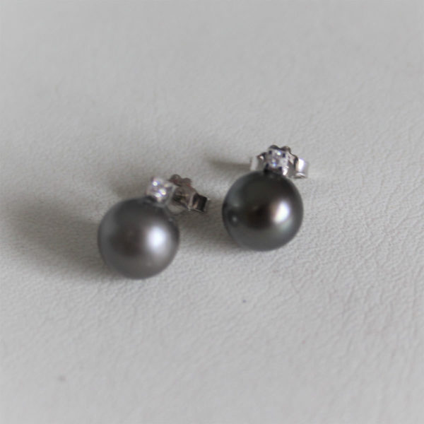 Boucles d'Oreilles Perles De Tahiti & Diamants