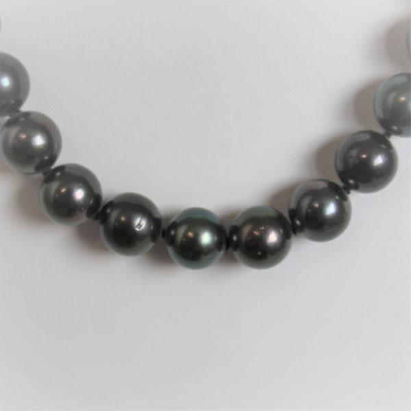 Collier Or 750 Perles De Tahiti  10mm - 45cm